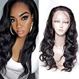 Maxine Body Wave Lace Front Wigs Adjustable Strap 360 Lace Human Hair Wigs 130% Density Glueless Wig for Women with Baby Hair Natural Hairline 12inch