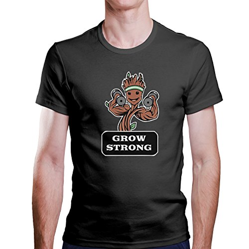 ZDesignONE - Camiseta - Cuello redondo - para hombre negro X-Large