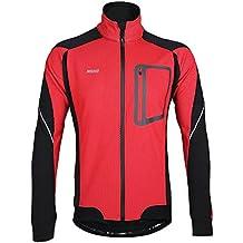 chaqueta invierno ciclismo - Rojo - Amazon.es