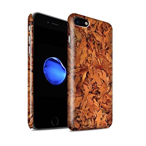 STUFF4 Glanz Snap-On Hülle / Case für Apple iPhone 8 / Gemischt/Violett Muster / Herbstblätter Kollektion Eiche/Braun