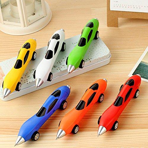 TOOGOO Packung mit 12 Stueck Niedlich Cool Rennen Auto Form personalisierte Kugelschreiber Buero Schulbedarf Studenten Kinder Geschenk