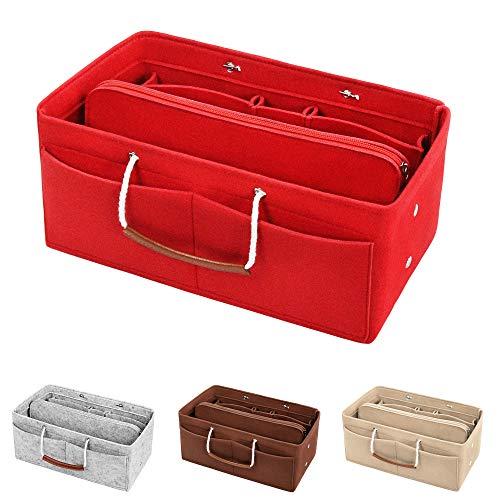 Y Taschenorganizer Filz mit Tragegriffen | 3mm Handtaschen Bag in Bag Organizer ()