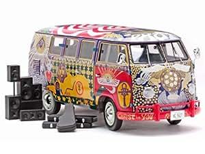 Sunstar - 5062 - Véhicule Miniature - Volkswagen Kombi - Woodstock Bus - Light - Echelle 1/12