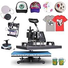 BuoQua 30.5x38cm Pressa Di Calore Trasferimento Press 1250W Pressa Per  Cappellini T-shirt Zona c393bb971d5e