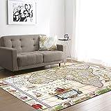 L&ZX Anti-Rutsch-Easy-Cleaning Für Teppich Teppich Karte Schlafzimmer Wohnzimmer Große Teppiche,3,147.3Cm×203.2Cm
