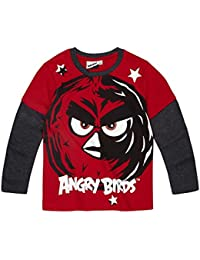 Angry Birds Garçon Tee-shirt manches longues 2016 Collection - rouge