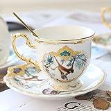 AOPT Juegos De Tazas De Café De Cerámica Estilo Británico De La Taza Conjuntos De Porcelana De ModaEstilo B