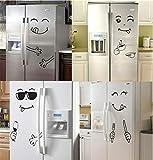 BVTYGH 4 Stile Gesicht lächeln wandaufkleber glücklich köstliche Gesicht Aufkleber kühlschrank lecker für Lebensmittel möbel Dekoration Poster DIY Kunst PVC