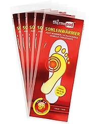 Thermopad Sohlen-Wärmer, kuschlig warme Füße, sofort einsatzbereit, 8 Stunden lang 37°C, einfache Anwendung wohltuender Wärme-Kissen, Größe S, 5 Paar