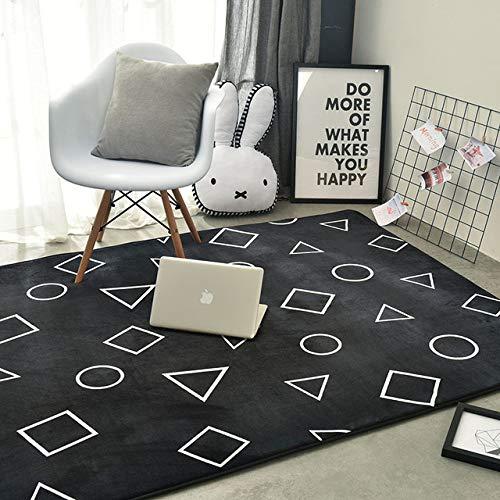 BYSDSG Geometric Plüschteppich und Teppiche für Wohnzimmer