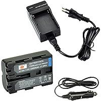 DSTE Repuesto Batería y DC01E Viaje Cargador kit para Sony NP-FM500H A57A58A65A77A100A200A200K A200W A300A300K A300X A350A350H A350K A350X A450A500A550A560A580A700A700K A700P A700Z