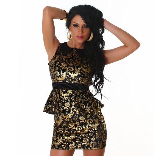 JELA London – La mini robe dorée et noir (2137) Doré Noir