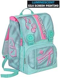 ce85654274 Zaino scuola SEVEN - COLORFUL GIRL - Azzurro Rosa - estensibile -  SERIGRAFIA FOTOLUMINESCENTE - 28