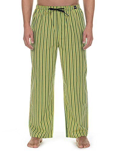 Bruno Banani Woven Pant Good Deed, Pantaloni da Pigiama Uomo, Grün (Lime/Anthrazit/Rot Stripes 2035), X-Large