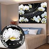 GREAT ART Orchideen mit Diamanten und schwarzem Hintergrund Wanddekoration - Wandbild Blumen Motiv XXL Poster (140 x 100 cm)