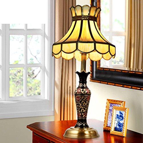 European-style Voll-messing Lampe/Nachahmung Marmor Tischleuchte/Nachttischlampe/Wohnzimmer Aus Massivem Messinglampe/Warme Schlafzimmer Tischleuchte-A - Marmor Aus Massivem Messing