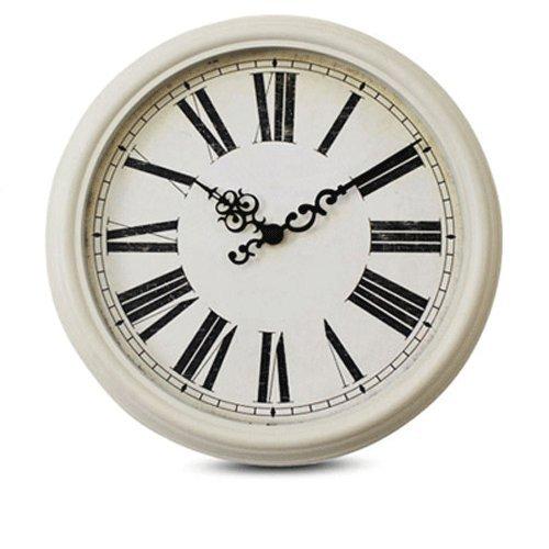 Vinteen 16 pollici numeri romani orologio da parete continental vintage orologio da parete orologio americano creatività orologio circolare soggiorno camera da letto silenzioso orologio horologe orologio al quarzo numero arabo ( color : white frame rome number )