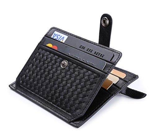 Descripción: Material: Cuero Color: Lila, Naranja, chocolate, negro elementos populares: Zip, tejidos, botón, peso: 26g mesure RFID: Longitud: 10.8cm Ancho: 8,2cm Grosor: 0,4cm Capacidad: 5* ranuras de tarjeta 1* ID ventana de 1* bolsillo de ...