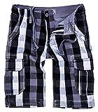 Rock Creek Herren Karoshorts Bermuda Hose CAGO-Shorts Sommer Hose kurz Shorts Herrenshorts H-158 S Grey11