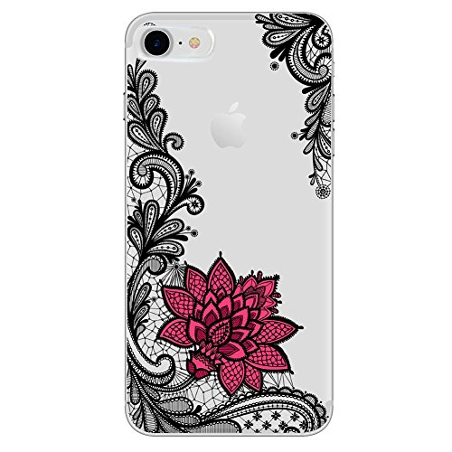 Pnizun - Lace Mandala-Kasten für iPhone X 8 7 6 6S Plus-XS XS Max XR Capa Für Xiaomi Redmi 4 4A 3S 3 S 4X Anmerkung 3 4 Pro Prime Mi A1 5X 5A S2 [Schwarz Rot Für iPhone XS Max] - Anmerkung Handy-kästen 3 Für