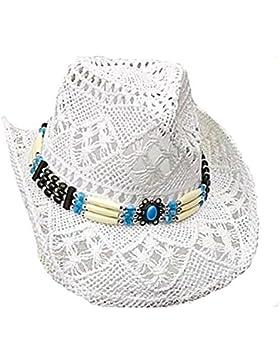 Running Bear - Sombrero de cowboy - para mujer blanco blanco