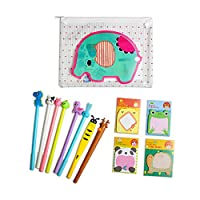 Children Cute Stationery Animal Pens Black Gel Pen Fun Stationary Writing Set for School Office Supplies Gift