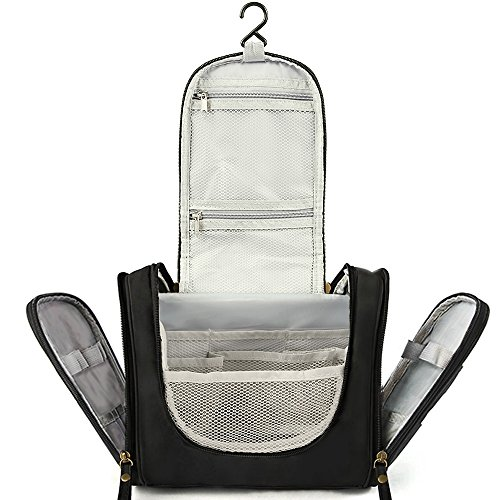 Trousse de Toilette à Suspendre Sac Rangement pour hommes et femmes (Waterproof) + Portable Container Bouteille/TSA approuvé+Brosse à Dents Tube Boîte en plastique pour