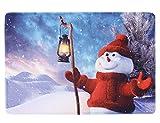Lukis Antirutschmatte 40x60cm Fußabstreifer für Innen- und Außen-Bereich Weihnachten Sauberlaufmatte Schmutzfangmatte Schneemann