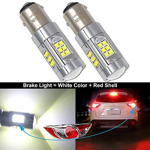 HSUN BAY15D P21/5 W 1157 LED Ampoules,150W Canbus Sans Erreur avec 30LED CREE XB-D Puce feu de freinage de voiture Turn Light et plus, paquet de 2, 6000K blanc