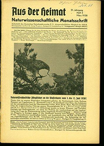 Eine auffallende Krankheit des Maises - der Maisbrand!, in: AUS DER HEIMAT, 3/1938.