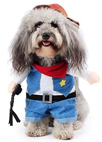 Fancy Me Haustier Junge Mädchen Hunde mit unechte Arme Halloween Karneval Hund Turnier Kostüm Kleid Kostüm Outfit S-XL - Cowboy, Large (Mädchen Halloween-kostüm Armee)
