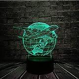 Upinfan Creativo 3D Usb Led Lampada Globo Terra Piano Aereo Trionfo Cieli 7 Colori Che Cambiano Umore Lampadina Pilota Decorazione Sala Regalo Rgb
