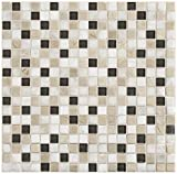 Dal-Tile 5858MS1P-SA50 Stone Radiance Tile, Kinetic Khaki Blend