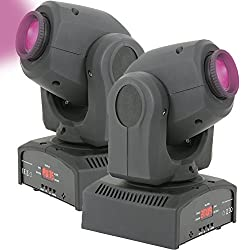 Pair 2x Mini Moving Head Led Dj Spot Light – Sound Activated Stage Lighting Dmx