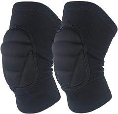 VORCOOL Knee Protector Pad Knee Sleeve Brace Knee Support Guard Wraps for Sport Dancing (Black)