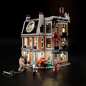 LIGHTAILING Set di Luci per (Super Heroes Avengers la Resa dei Conti al Sanctum Sanctorum) Modello da Costruire - Kit…  LEGO