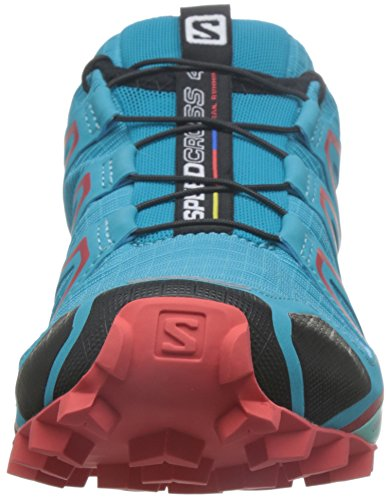 Salomon Speedcross 4, Scarpe da Trail Running Donna Blu (Blue Jay/Black/Infrared)