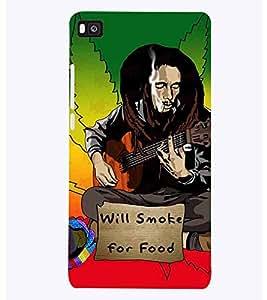 PrintVisa Music Bob Reggae 3D Hard Polycarbonate Designer Back Case Cover for Huawei P8