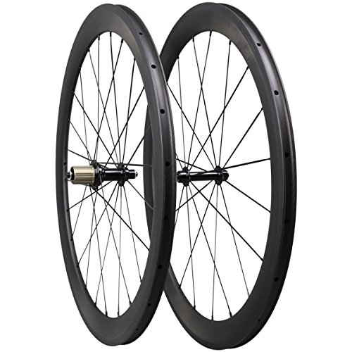 Triaero 50mm 700C Aero Carbon Road Bike Wheel Clincher 23mm Width Sapim CX-Ray Radios