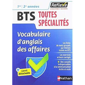 Vocabulaire d'anglais des affaires BTS toutes spécialités 1re et 2e années