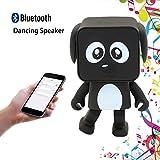 HanDingSM Bluetooth Lautsprecher,Drahtloser Bluetooth Tanz-Roboter-Hundelautsprecher,Stereo Bass Sound Bluetooth Musik Lautsprecher (schwarz)
