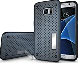 Quicksand Galaxy S7 edge Cover, Defender 2 Rugged Armor Shock Proof Neo Hybrid Dual Layer Back Cover for Samsung Galaxy S7 edge - Blue