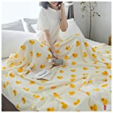 Decken Throw Blanket Soft Cozy Nap Schlafsofa Nette Kleine Gelbe Ente Muster Flanell (größe : 150...
