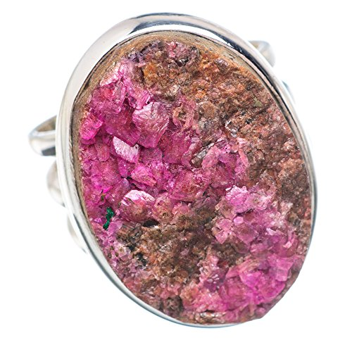 y, Cobalto Calcit Druzy 925 Sterling Silber Ring 6 (Druzy-ring)