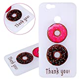 ISAKEN Custodia Cover per Huawei Nova - Fashion Agganciabile Luminosa Cover CASO con LED Lampeggiante Ultra Slim Sottile TPU Cover Rigida Gel Silicone Protettivo Skin Custodia Colorate Pattern Style Protettiva Shell Case Cover - donut colorate
