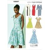 Vogue Patterns V8997 A5 - Patrones de costura para vestidos (tallas 6-14), multicolor