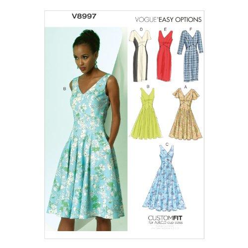 Vogue VGE 8997 A5 (6-8-10-12-14) Schnittmuster zum Nähen, Elegant, Extravagant, Modisch