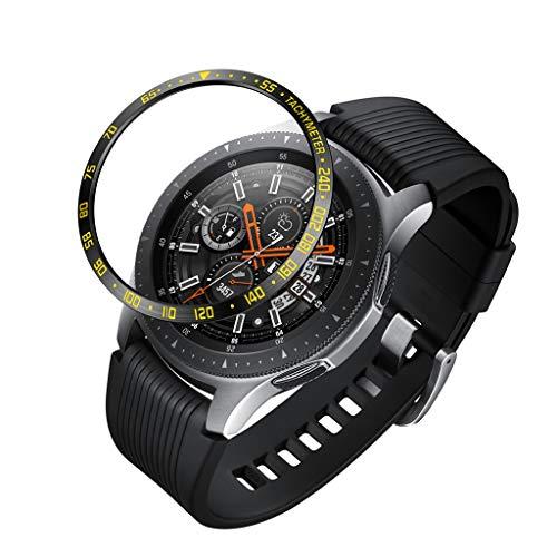 Skxinn Kompatibel Samsung Galaxy Watch 46MM Bezel Ring Adhesive Cover Anti Scratch Stainless Steel Schutzfolie Panzerglas Glas Displayschutzfolie Gehärtetem Panzerglasfolie Ausverkauf