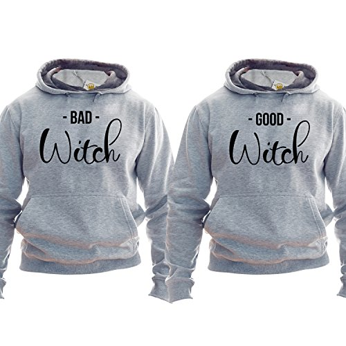 *Best Friends Pullover Besties Hoodie Kapuzenpullover Kapuzenshirt Bff Outfit Matching Bff Matching Besties Good Witch Band Witch*