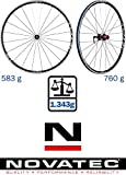 Novatec Unisex– Erwachsene Laufrad-Satz NATEC-Jetfly SL-Rennrad Lr, Schwarz, 700C
